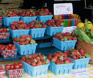 U-pick or pre-picked strawberries, however you want, at Jones Family Farm Market in Edgewood and Baltimore area, Maryland.